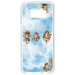 clouds angel cherubs  Samsung Galaxy S8 White Seamless Case