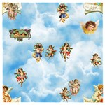 clouds angel cherubs  Wooden Puzzle Square
