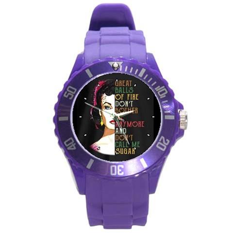 By Wayland Dykes   Round Plastic Sport Watch (l)   Ba2grhik4hi2   Www Artscow Com Front