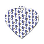Seahorses Jewelry Dog Tag Heart (Two Sides)
