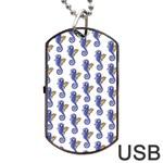 Seahorses Jewelry Dog Tag USB Flash (One Side)