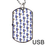 Seahorses Jewelry Dog Tag USB Flash (Two Sides)