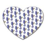 Seahorses Housewares Heart Mousepad