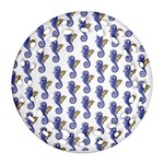 Seahorses Housewares Round Filigree Ornament (Two Sides)