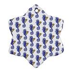 Seahorses Housewares Snowflake Ornament (Two Sides)