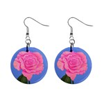 Roses Womens Fashion 1  Button Earrings