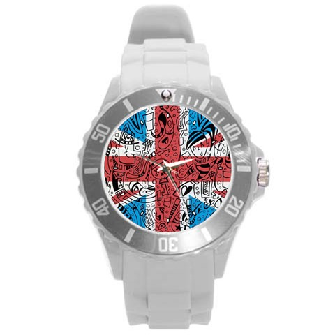 By Wayland Dykes   Round Plastic Sport Watch (l)   2uj1sq3ltas7   Www Artscow Com Front