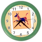 Funny Donkey Color Wall Clock