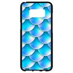 Mermaid Tail Blue Samsung Galaxy S8 Black Seamless Case