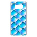 Mermaid Tail Blue Samsung Galaxy S8 White Seamless Case