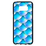 Mermaid Tail Blue Samsung Galaxy S8 Plus Black Seamless Case