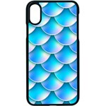 Mermaid Tail Blue iPhone X Seamless Case (Black)