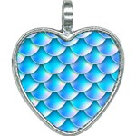 Mermaid Tail Blue Heart Necklace