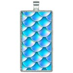 Mermaid Tail Blue Rectangle Necklace