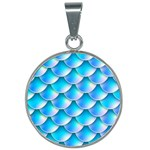 Mermaid Tail Blue 25mm Round Necklace