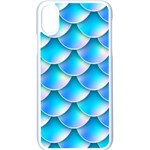 Mermaid Tail Blue iPhone XS Seamless Case (White)