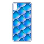 Mermaid Tail Blue iPhone XS Max Seamless Case (White)