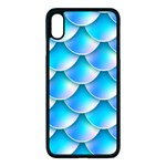 Mermaid Tail Blue iPhone XS Max Seamless Case (Black)