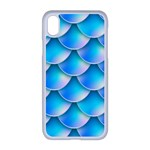Mermaid Tail Blue iPhone XR Seamless Case (White)