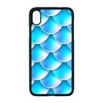 Mermaid Tail Blue iPhone XR Seamless Case (Black)