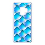 Mermaid Tail Blue Samsung Galaxy S9 Seamless Case(White)