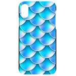 Mermaid Tail Blue iPhone XR Black UV Print Case
