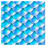 Mermaid Tail Blue Wooden Puzzle Square