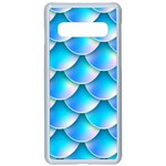 Mermaid Tail Blue Samsung Galaxy S10 Seamless Case(White)