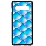Mermaid Tail Blue Samsung Galaxy S10 Seamless Case(Black)