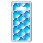 Mermaid Tail Blue Samsung Galaxy S10e Seamless Case (White)