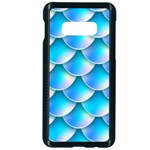 Mermaid Tail Blue Samsung Galaxy S10e Seamless Case (Black)