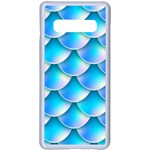 Mermaid Tail Blue Samsung Galaxy S10 Plus Seamless Case(White)