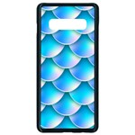 Mermaid Tail Blue Samsung Galaxy S10 Plus Seamless Case (Black)