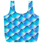 Mermaid Tail Blue Full Print Recycle Bag (XXL)