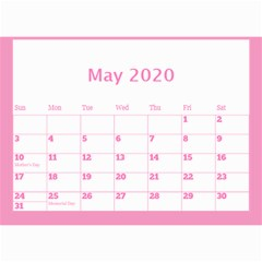 Jane Pink Princess Wall Calendar (any Year) 8 5x6 By Deborah May 2020