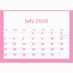 Jane Pink Princess Wall Calendar (any Year) 8 5x6 By Deborah Jul 2020