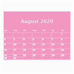 Jane Pink Princess Wall Calendar (any Year) 8 5x6 By Deborah Aug 2020
