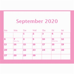 Jane Pink Princess Wall Calendar (any Year) 8 5x6 By Deborah Sep 2020