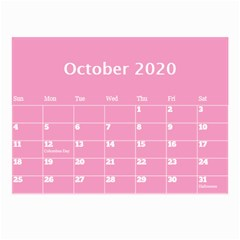 Jane Pink Princess Wall Calendar (any Year) 8 5x6 By Deborah Oct 2020