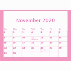 Jane Pink Princess Wall Calendar (any Year) 8 5x6 By Deborah Nov 2020