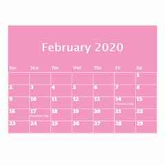 Jane Pink Princess Wall Calendar (any Year) 8 5x6 By Deborah Feb 2020