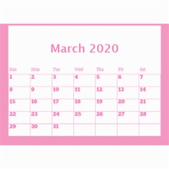 Jane Pink Princess Wall Calendar (any Year) 8 5x6 By Deborah Mar 2020