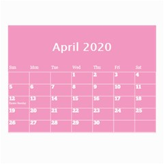 Jane Pink Princess Wall Calendar (any Year) 8 5x6 By Deborah Apr 2020