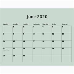 George Green Frame Male 2020 Calendar (any Year) By Deborah   Wall Calendar 11  X 8 5  (12 Months)   E9616joasjdf   Www Artscow Com Jun 2020