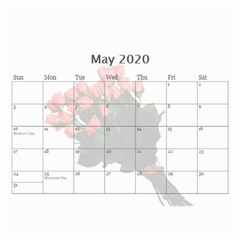 Jane Roses For You (any Year) 2020 Calendar 8 5x6 By Deborah   Wall Calendar 8 5  X 6    Docs3wc7apgl   Www Artscow Com May 2020
