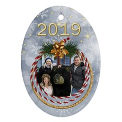 George My Oval Christmas Ornament (2 Sided) By Deborah Front