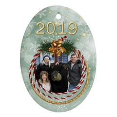 George My Oval Christmas Ornament (2 Sided) By Deborah Back