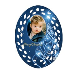 George Christmas Filigree Oval Ornament 3 (2 Sided) By Deborah   Oval Filigree Ornament (two Sides)   C3566roswdi6   Www Artscow Com Front