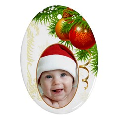 Jane Christmas Oval (2 Sided) Ornament By Deborah Back