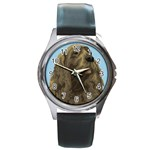 spaniel Round Metal Watch